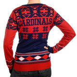 "St Louis Cardinals Women's Official MLB ""Big Logo"" V-Neck Sweater"