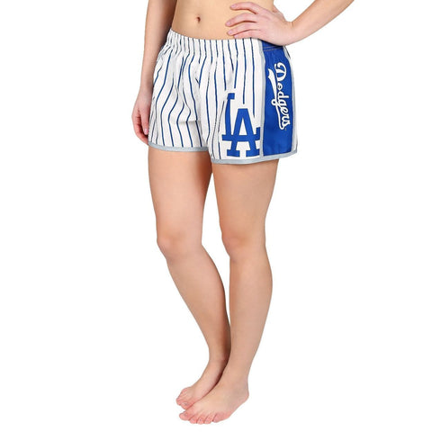 Los Angeles Dodgers Official MLB Womens Comfy Pin Stripe Shorts