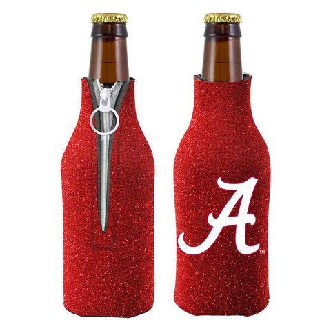 Alabama Crimson Tide NCAA Insulated Neoprene Ladies Glitter Bottle Cooler
