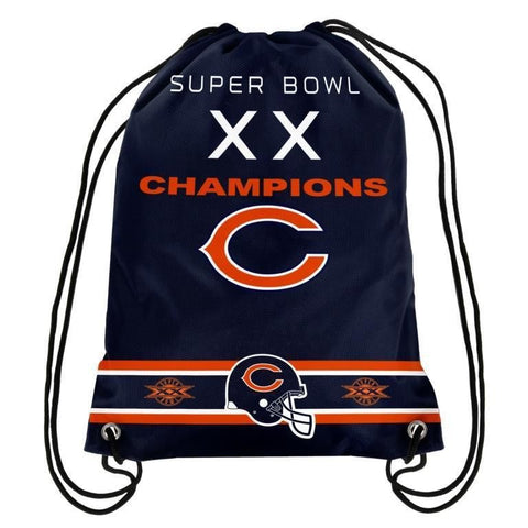 Chicago Bears NFL Super Bowl Commemorative Drawstring Backpack