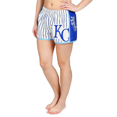 Kansas City Royals Official MLB Womens Comfy Pin Stripe Shorts