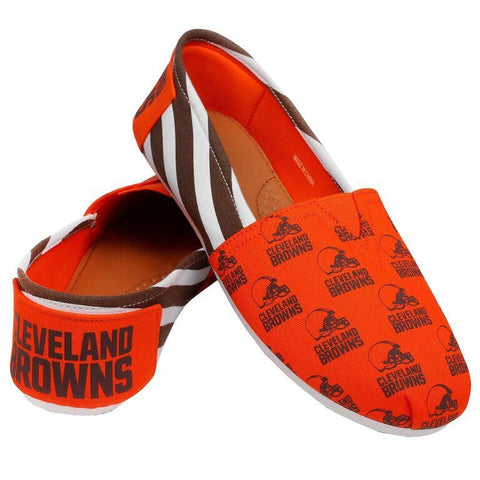 Cleveland Browns Official NFL Stripe Canvas Shoes