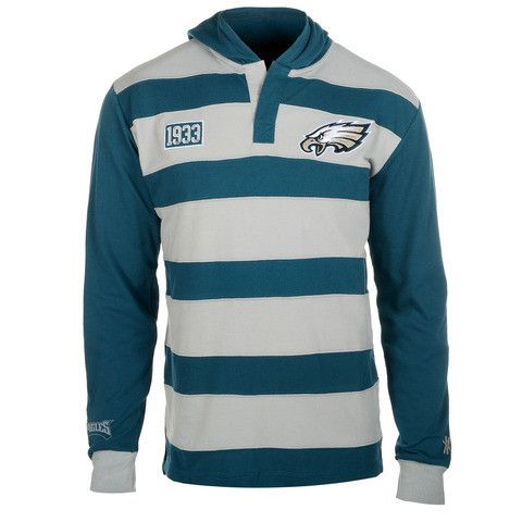 Philadelphia Eagles Official NFL Cotton Rugby Hoody By Klew