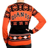 "San Francisco Giants Women's Official MLB ""Big Logo"" V-Neck Sweater"