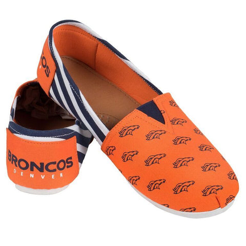 Denver Broncos Official NFL Stripe Canvas Shoes