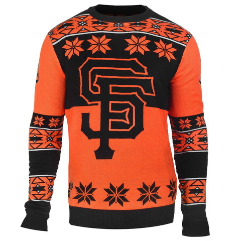 San Francisco Giants Official MLB Big Logo Ugly Crew Neck Sweater