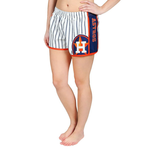 Houston Astros Official MLB Womens Comfy Pin Stripe Shorts