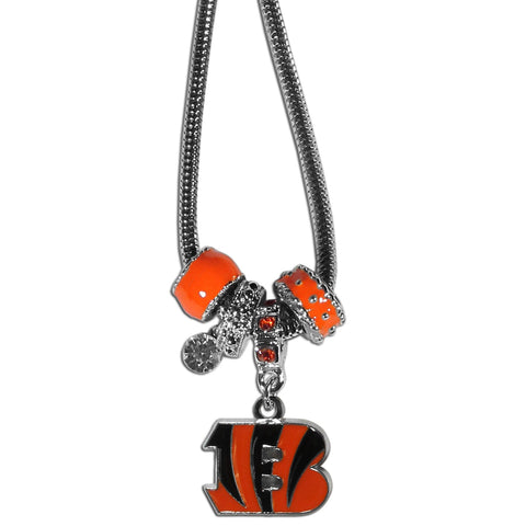 Cincinnati Bengals Official NFL Euro Bead Necklace