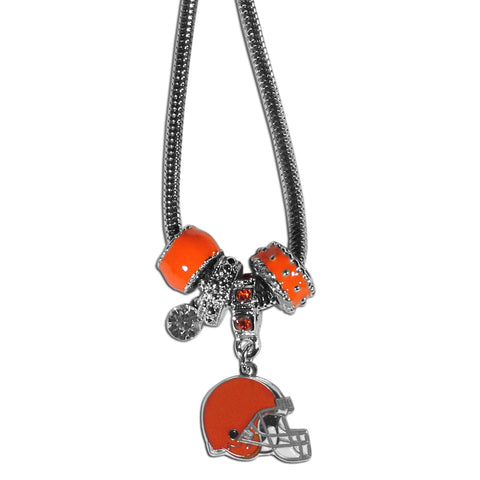 Cleveland Browns Official NFL Euro Bead Necklace