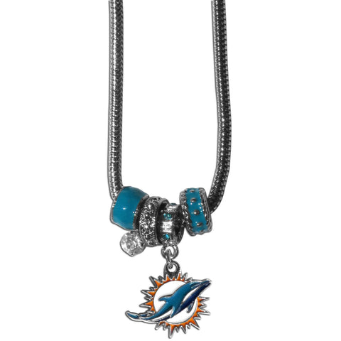Miami Dolphins Official NFL Euro Bead Necklace