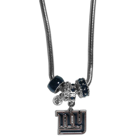 New York Giants Official NFL Euro Bead Necklace