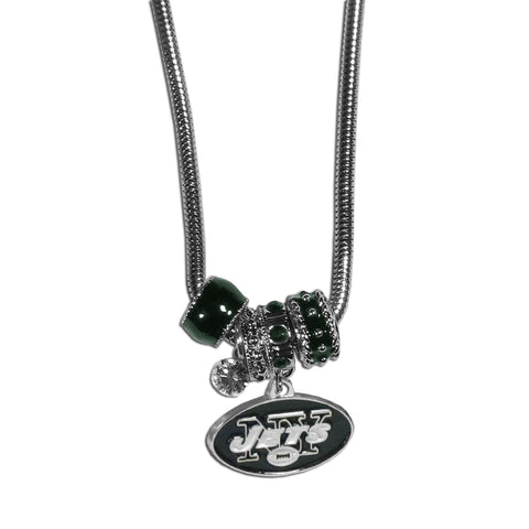 New York Jets Official NFL Euro Bead Necklace