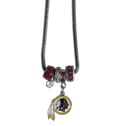 Washington Redskins Official NFL Euro Bead Necklace