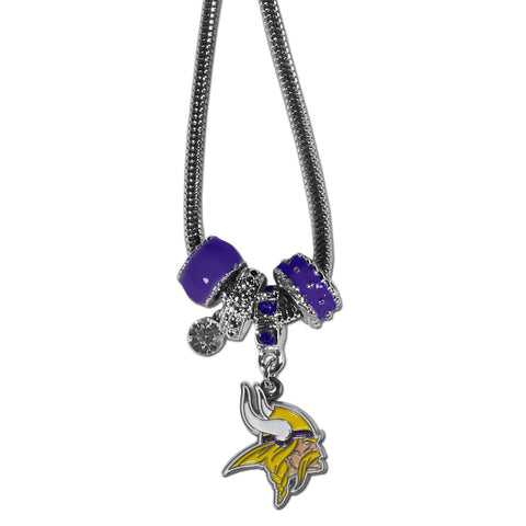 Minnesota Vikings Official NFL Euro Bead Necklace