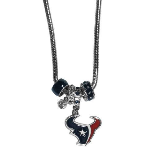 Houston Texans Official NFL Euro Bead Necklace