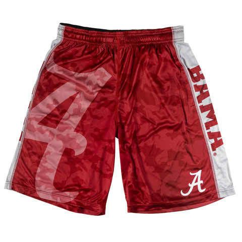 Alabama Crimson Tide Official NCAA Big Logo Camo Shorts - GetMeSports