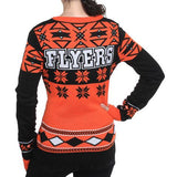 "Philadelphia Flyers Women's Official NHL""big Logo"" V-neck Sweater By Klew"
