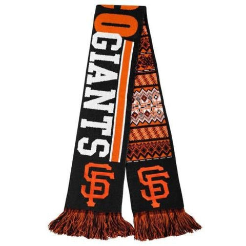 San Francisco Giants Team Logo MLB Reversible Ugly Scarf