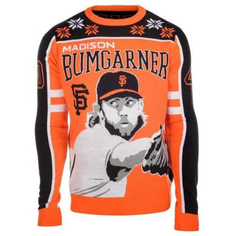 San Francisco Giants Bumgarner #40 Official MLB  2015 Player Ugly Sweater