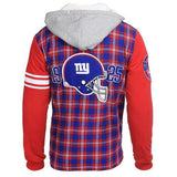 New York Giants Flannel Fleece Hoodie By Klew