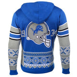 "Detroit Lions Official NFL ""Big Logo"" Hooded Sweatshirt by Klew"