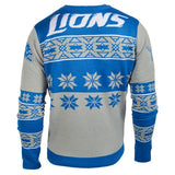 Detroit Lions Official Men's NFL Big Logo Sweater by Klew