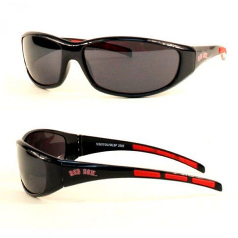 Boston Red Sox Men's Official MLB 3 Dot Sports Wrap Sunglasses