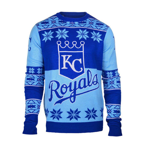 Kansas City Royals Official MLB Big Logo Ugly Crew Neck Sweater
