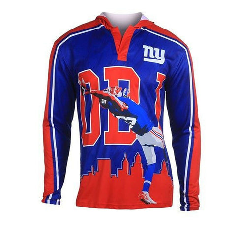 New York Giants Beckham O. #13 Official NFL Polyester Player Hoody Tee