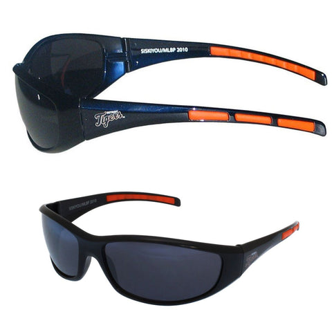 Detroit Tigers Men's Official MLB 3 Dot Sports Wrap Sunglasses