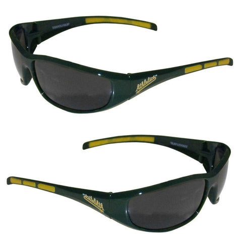 Oakland Athletics Men's Official MLB 3 Dot Sports Wrap Sunglasses