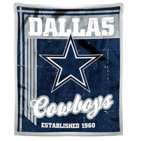 "Dallas Cowboys Mink Sherpa Official NFL Throw 50"" x 60"""