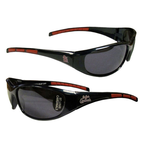 St Louis Cardinals Men's Official MLB 3 Dot Sports Wrap Sunglasses