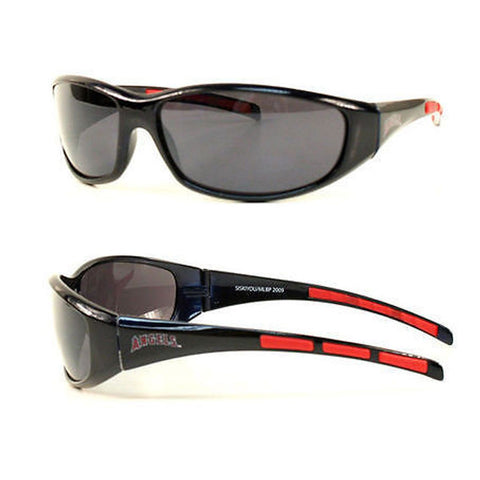 Los Angeles Angels Men's Official MLB 3 Dot Sports Wrap Sunglasses
