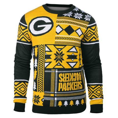 "Green Bay Packers Official Men's NFL ""Ugly Sweater"" by Klew"