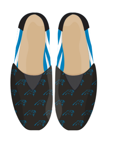 Carolina Panthers Official NFL Stripe Canvas Shoes