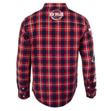 New England Patriots Wordmark Long Sleeve NFL Men's Flannel Shirt by Klew