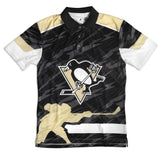 Pittsburgh Penguins Official NHL Thematic Polyester Polo Shirt