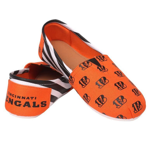Cincinnati Bengals Official NFL Stripe Canvas Shoes