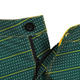 Green Bay Packers Official NFL Dots Walking Shorts with Pockets Button and Zipper