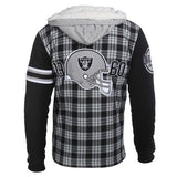 Oakland Raiders Flannel Fleece Hoodie By Klew