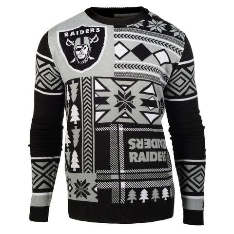 "Oakland Raiders Official Men's NFL ""ugly Sweater"" By Klew"