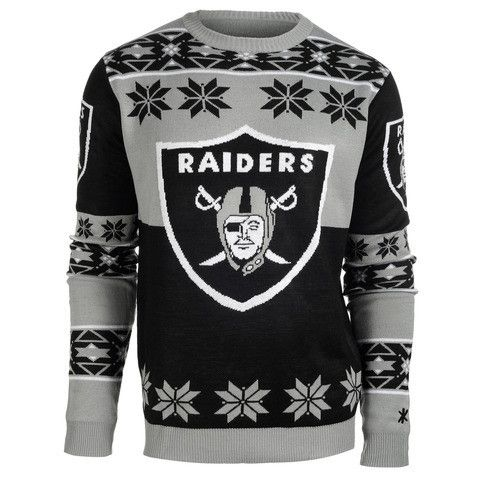 Oakland Raiders Official Men's NFL Big Logo Sweater