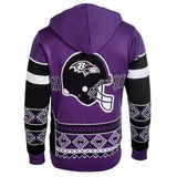 "Baltimore Ravens Official NFL ""Big Logo"" Hooded Sweater by Klew"