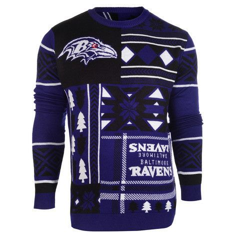 "Baltimore Ravens Official NFL Men's ""ugly Sweater"" By Klew"