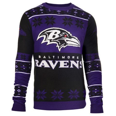 Baltimore Ravens Official Men's NFL Big Logo Sweater by Klew