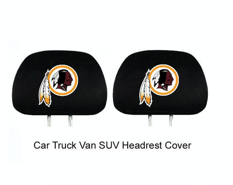 2pc Set NFL Redskins Car Truck SUV Van Headrest Head Rest Covers