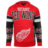 "Detroit Red Wings Official NHL ""Big Logo"" Hooded Sweatshirt by Klew"