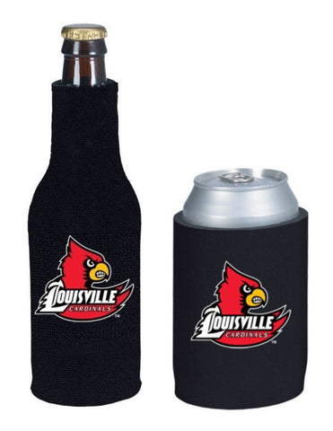 Louisville Cardinals NCAA Bottle & Can Beer Soda Drink Holder-2 Pack
