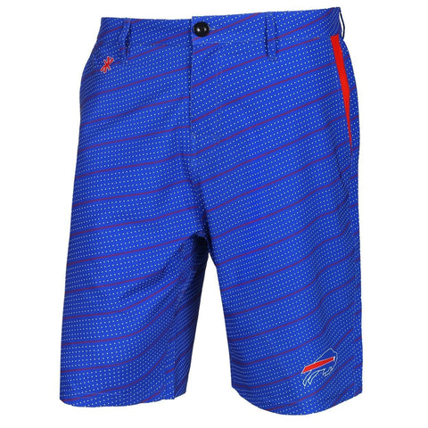 Buffalo Bills Official NFL Dots Walking Shorts with Pockets Button and Zipper